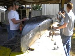 Concrete Canoe Practice Pour Day