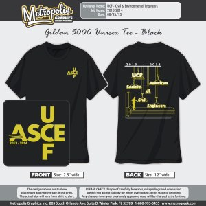 ASCE-UCF 2013-2014 Club Shirts
